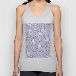Unicorn Lilac Pattern Unisex Tank Top