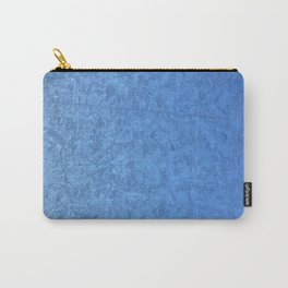 Winter Christmas Blue Window Carry-All Pouch