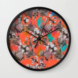 Birds don't cry Wall Clock