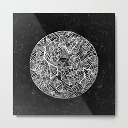 Black Constellation Metal Print