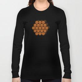 Reception retro geometric pattern Long Sleeve T-shirt