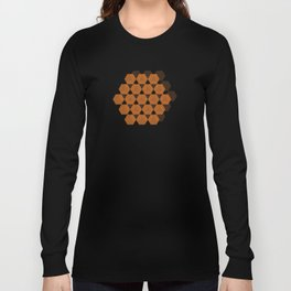 Reception retro geometric pattern Long Sleeve T-shirt