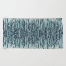 Green-Blue Grass Beach Towel