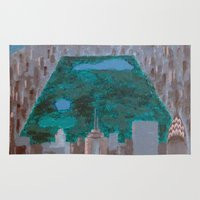 central park Area & Throw Rugs featuring central park by cityclectic design