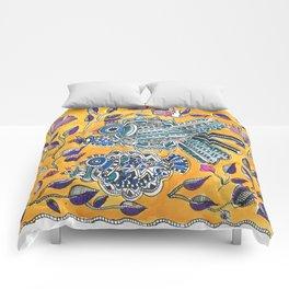 Madhubani - Blue Yellow Bird Comforters