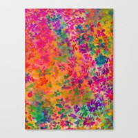 flora Canvas Prints featuring Flora by Amy Sia