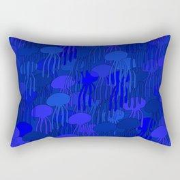 Jellyfish-BLUE Rectangular Pillow
