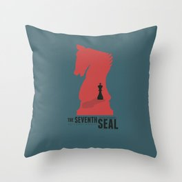 The Seventh Seal, Ingmar Bergman movie poster, swedish film, Max von Sydow Throw Pillow