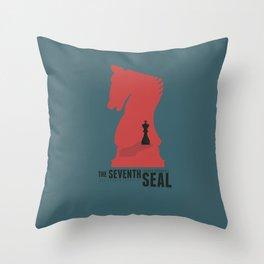 The Seventh Seal, Ingmar Bergman movie poster, swedish film, Max von Sydow Throw Pillow