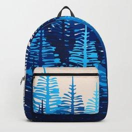 Pine Forest - Blue Light Backpack