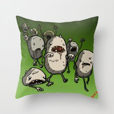 The Walking Spud Throw Pillow