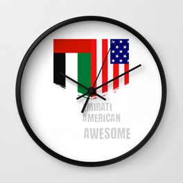 50% Emirati 50% American 100% Awesome Wall Clock