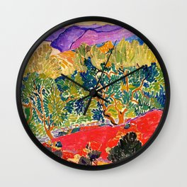 THE FAUVE LANDSCAPE Wall Clock