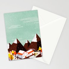 snowy autumn Stationery Cards