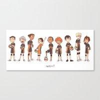 haikyuu Canvas Prints featuring haikyuu!! by c.j.