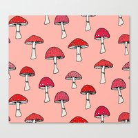 mushroom Canvas Prints featuring Mushroom by Abby Galloway
