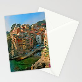 Italy. Cinque Terre - Canal side Stationery Cards