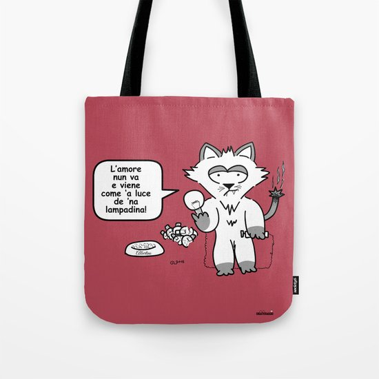the wise cat - love Tote Bag