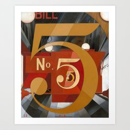 I Saw the Figure 5 in Gold by Charles Demuth Art Print