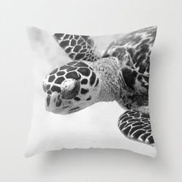 Hawksbill black and white Throw Pillow