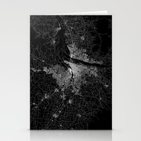 portland Stationery Cards featuring portland map by Line Line Lines