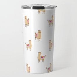 Cute Lama, alpaca. Travel Mug