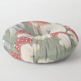 MOTHER MUSHROOM WITH HER CHILDREN - EDWARD OKUN Floor Pillow