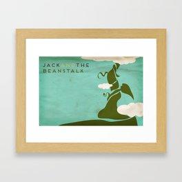 Jack & the Beanstalk Minimalist Fairytales Framed Art Print