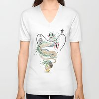 spirited away V-neck T-shirts featuring spirited away by Manoou
