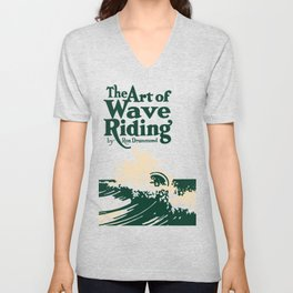The Art of Wave Riding 1931, First Surfing Book Artwork, for Wall Art, Prints, Posters, Tshirts, Men, Women, Kids Unisex V-Neck
