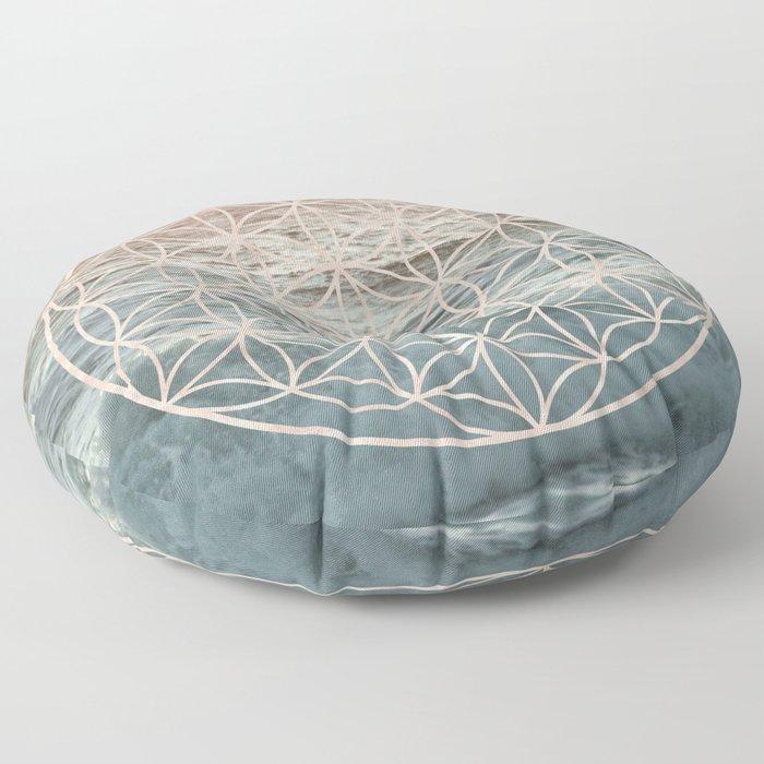 Mandala Flower of Life Sea Floor Pillow