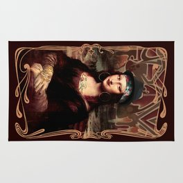 Chicana Mona Lisa Rug