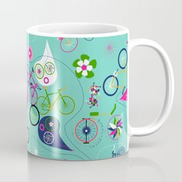 Cycledelic Teal Coffee Mug