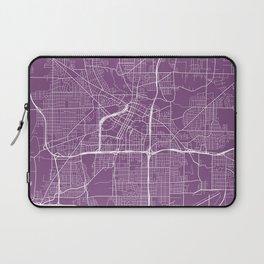 Akron Map, USA - Purple Laptop Sleeve