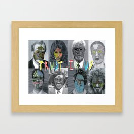 Trust in us Framed Art Print