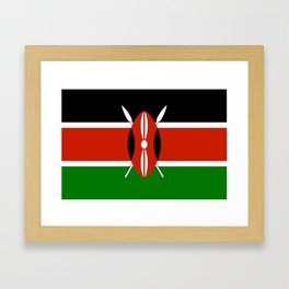 National flag of Kenya - Authentic version, to scale and color Framed Art Print