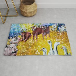 Farm Animals Protected by Saint Brigid of Kildare Rug