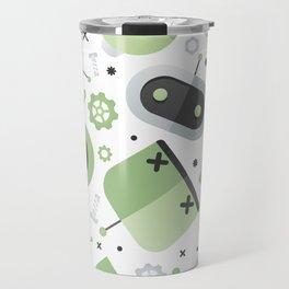 Attack of the Robots: Green Travel Mug