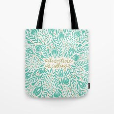 Adventure is Calling – Turquoise & Gold Palette Tote Bag