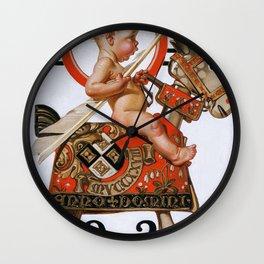 Joseph Christian Leyendecker - New Year Baby 1924 - Digital Remastered Edition Wall Clock