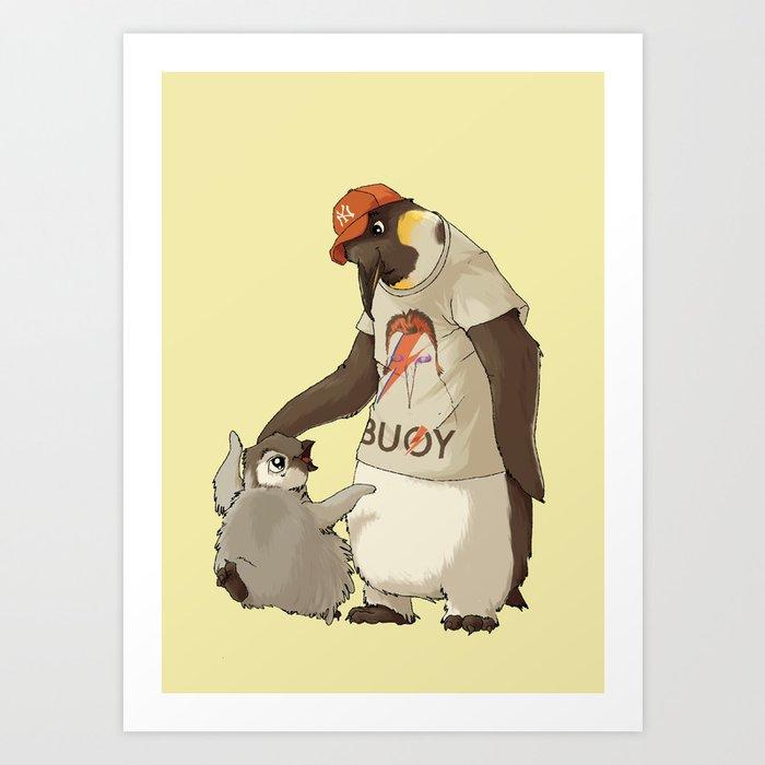 E is for Emperor Penguin Art Print