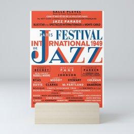 Vintage 1949 Paris International Jazz Festival Poster Mini Art Print