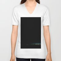 milwaukee V-neck T-shirts featuring Milwaukee Marina by julia cullinan