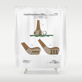 Golf Club Patent Shower Curtain