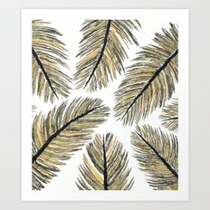 Palm Leaves (watercolor) Art Print