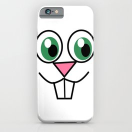 Cute Easter Bunny Face iPhone Case