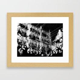 Black Fire Framed Art Print
