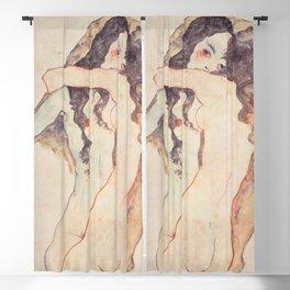 Two Women Embracing, Egon Schiele Blackout Curtain