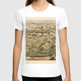 Map Of Afghanistan 1910 T-shirt