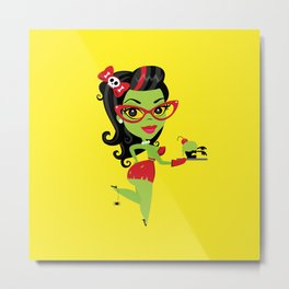 Bettie Bakes a Doomcake Metal Print